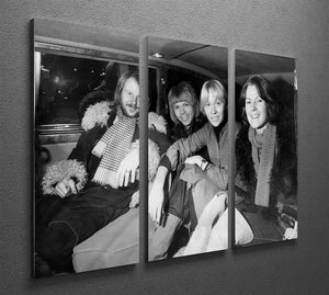 ABBA in a car 3 Split Panel Canvas Print - Canvas Art Rocks - 2