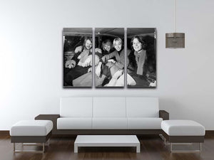 ABBA in a car 3 Split Panel Canvas Print - Canvas Art Rocks - 3