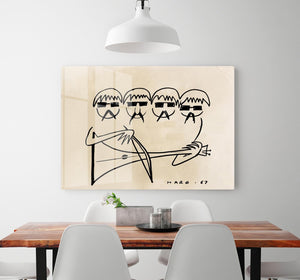 A Beatles Cartoon by Haro HD Metal Print