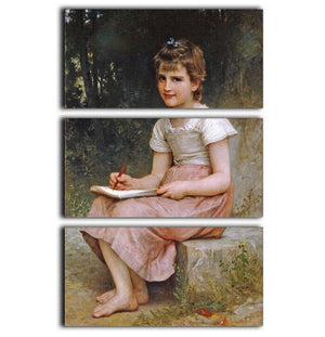 A Calling 1896 By Bouguereau 3 Split Panel Canvas Print - Canvas Art Rocks - 1