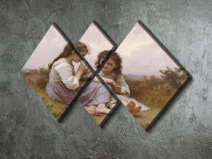 A Childhood Idyll 1900 By Bouguereau 4 Square Multi Panel Canvas - Canvas Art Rocks - 2