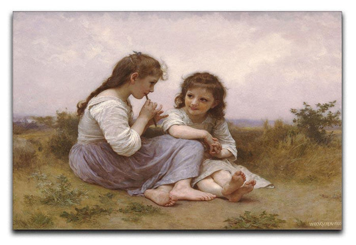A Childhood Idyll 1900 By Bouguereau Canvas Print or Poster
