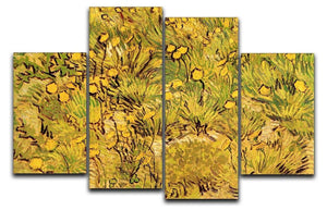 A Field of Yellow Flowers by Van Gogh 4 Split Panel Canvas  - Canvas Art Rocks - 1
