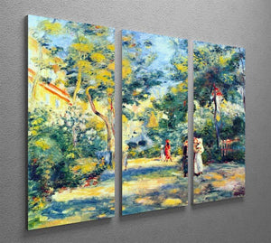 A Garden in Montmartre by Renoir 3 Split Panel Canvas Print - Canvas Art Rocks - 2