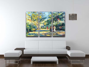 A Garden in Montmartre by Renoir 3 Split Panel Canvas Print - Canvas Art Rocks - 3