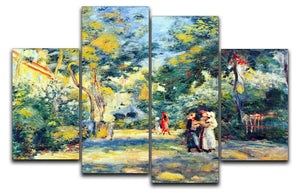 A Garden in Montmartre by Renoir 4 Split Panel Canvas  - Canvas Art Rocks - 1