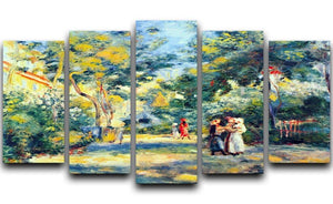 A Garden in Montmartre by Renoir 5 Split Panel Canvas  - Canvas Art Rocks - 1