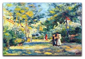 A Garden in Montmartre by Renoir Canvas Print or Poster  - Canvas Art Rocks - 1