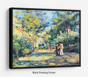 A Garden in Montmartre by Renoir Floating Frame Canvas