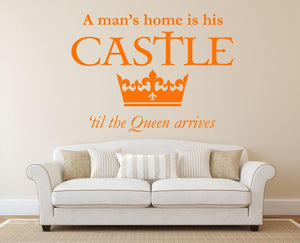 A Mans Castle Queen Wall Sticker - Canvas Art Rocks - 1