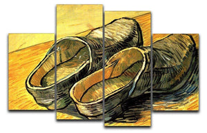 A Pair of Leather Clogs by Van Gogh 4 Split Panel Canvas  - Canvas Art Rocks - 1