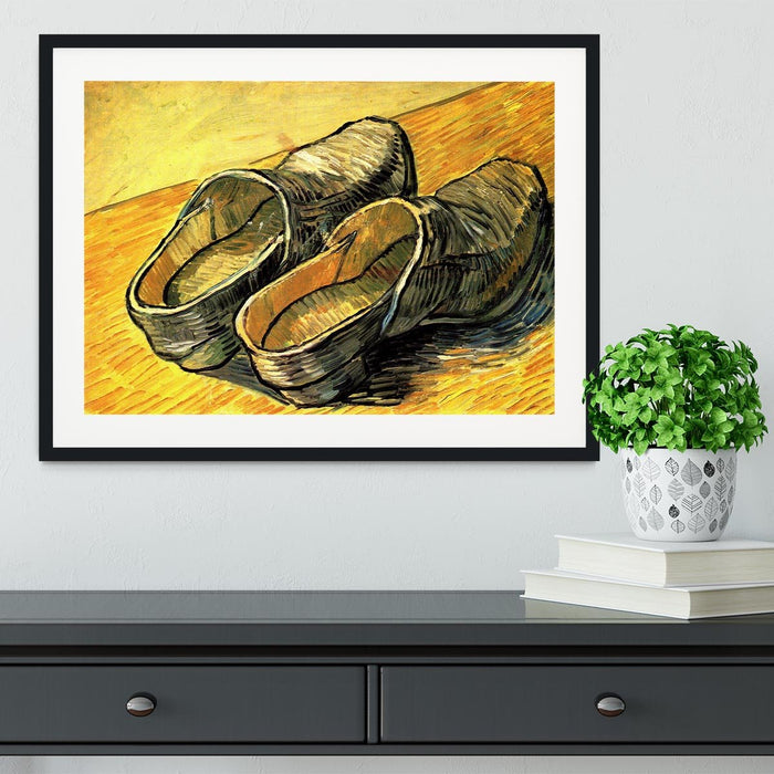 A Pair of Leather Clogs by Van Gogh Framed Print