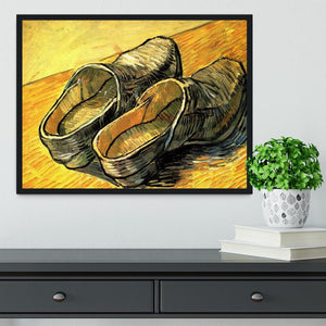 A Pair of Leather Clogs by Van Gogh Framed Print - Canvas Art Rocks - 2