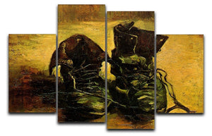 A Pair of Shoes 2 by Van Gogh 4 Split Panel Canvas  - Canvas Art Rocks - 1