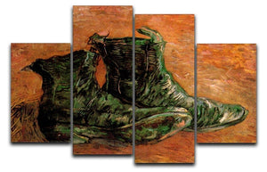 A Pair of Shoes by Van Gogh 4 Split Panel Canvas  - Canvas Art Rocks - 1