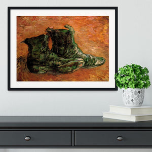 A Pair of Shoes by Van Gogh Framed Print - Canvas Art Rocks - 1