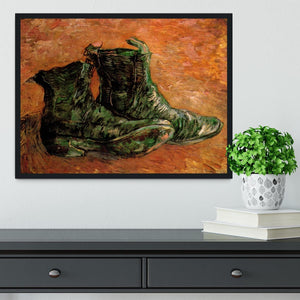 A Pair of Shoes by Van Gogh Framed Print - Canvas Art Rocks - 2