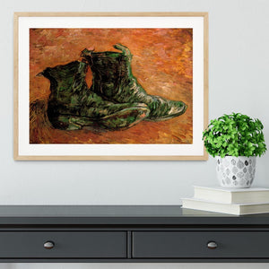 A Pair of Shoes by Van Gogh Framed Print - Canvas Art Rocks - 3