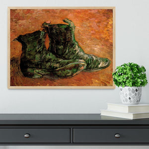 A Pair of Shoes by Van Gogh Framed Print - Canvas Art Rocks - 4