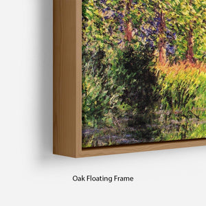 A bend of the Epte Giverny by Monet Floating Frame Canvas