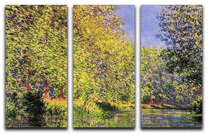 A bend of the Epte Giverny by Monet Split Panel Canvas Print