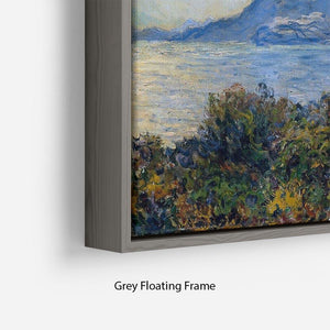 A coastal view with a bay by Monet Floating Frame Canvas