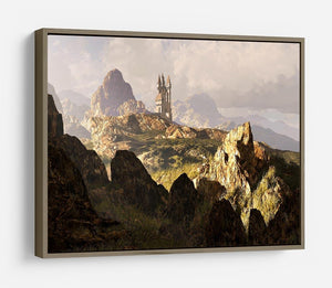 A distance medieval castle HD Metal Print