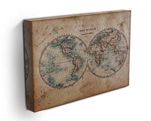 A genuine old stained World map Canvas Print or Poster - Canvas Art Rocks - 3