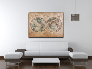 A genuine old stained World map Canvas Print or Poster - Canvas Art Rocks - 4
