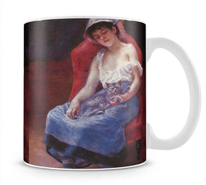 A girl asleep by Renoir Mug - Canvas Art Rocks - 1