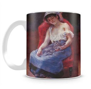 A girl asleep by Renoir Mug - Canvas Art Rocks - 2