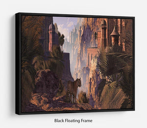 A landscape in India Floating Frame Canvas
