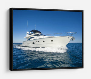 A luxury private motor yacht HD Metal Print