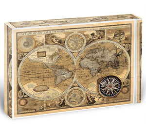 A new and accvrat map of the world Acrylic Block - Canvas Art Rocks - 1