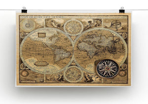 A new and accvrat map of the world Canvas Print or Poster - Canvas Art Rocks - 2