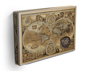 A new and accvrat map of the world Canvas Print or Poster - Canvas Art Rocks - 3