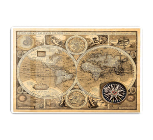 A new and accvrat map of the world HD Metal Print