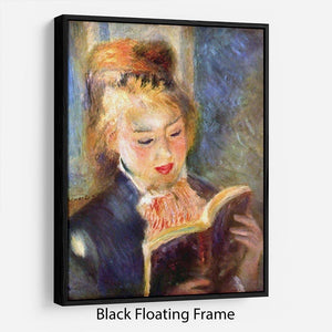 A reading girl1 by Renoir Floating Frame Canvas