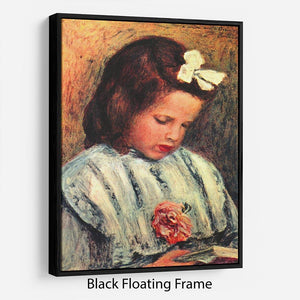 A reading girl by Renoir Floating Frame Canvas