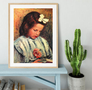 A reading girl by Renoir Framed Print - Canvas Art Rocks - 3