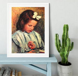 A reading girl by Renoir Framed Print - Canvas Art Rocks - 5