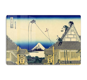 A sketch of the Mitsui shop by Hokusai HD Metal Print
