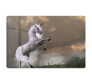 A unicorn stag asserts its power HD Metal Print