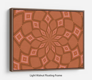 Abstract Diamonds Floating Frame Canvas