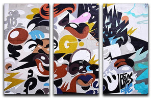 Abstract Graffiti 3 Split Panel Canvas Print - Canvas Art Rocks - 1
