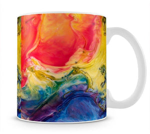 Abstract Red And Blue Mug - Canvas Art Rocks - 1