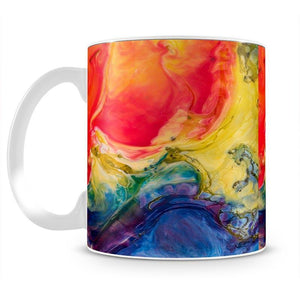 Abstract Red And Blue Mug - Canvas Art Rocks - 2