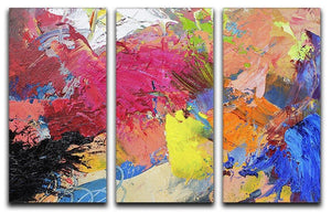 Abstract art 3 Split Panel Canvas Print - Canvas Art Rocks - 1