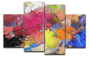 Abstract art 4 Split Panel Canvas  - Canvas Art Rocks - 1