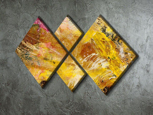 Abstract background by acrylic paint 4 Square Multi Panel Canvas  - Canvas Art Rocks - 2